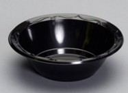 Genpak 12 oz. Black Plastic Bowl – 1000/case