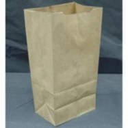 Kraft 12lb Brown Paper Bag 500/Pack