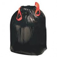 Essential 30 Gallon Black Drawstring Trash Bag 6/28 Case