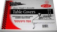 60″x140″ Clear Plastic Table Cover 10/12 Case