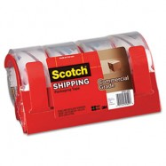 Scotch Clear Packing Tape with Dispenser 4/Pack