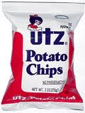 Utz Plain Potato Chips 60/Case