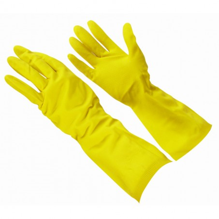 Large Yellow Rubber Gloves 12/Pack