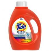 Tide HE Laundry Detergent 2X Concentrate with Bleach 4/100oz Case