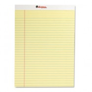 Universal Perforated 8.5″x11″ Yellow Legal Pad 12/Pack
