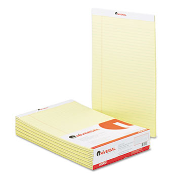 Universal 8.5″x14″ Yellow Legal Pads 12/Pack