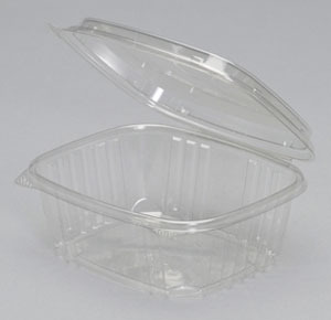 Dart 32oz Clear Safe-Seal Hinged Container