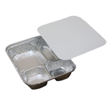 3 Compartment Aluminum Pan with Board Lid 200/Case