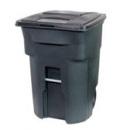 Cascade 96 Gallon Wheeled Trash Can with Lid
