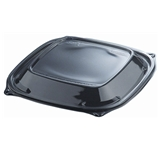 Dart 24oz Square Black Microwave Bowl Lid 252/Case