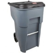 Rubbermaid 95 Gallon Wheeled Trash Can with Lid