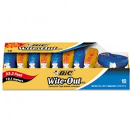 Bic Wite-Out EZ Correct Correction Tape Non-Refillable, 1/6″ x 472″ 10/Box