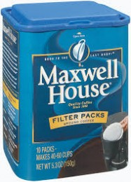 Maxwell House Regular Filter Pack Coffee 4/10pk Case